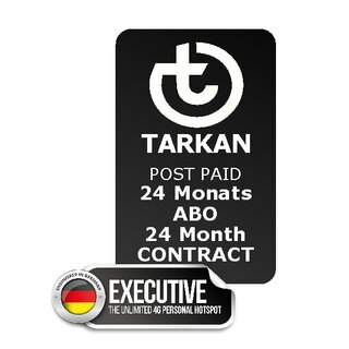 24 month SUBSCRIPTION - TARKAN Executive + 40 country UNLIMITED + 90 countries 5 GB