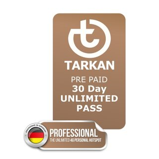 30 Day UNLIMITED PASS for TARKAN Professional