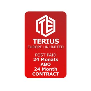 TERIUS STANDARD SUBSCRIPTION - 24 months contract period - 500GB a month - European Union, including Norway