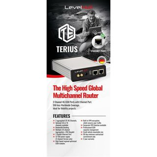 TERIUS ADVANCED VERSION - included 2 TERIUS ADVANCED Extension Module - with IP Data Compression Modul - with Maintenance contract 12 months